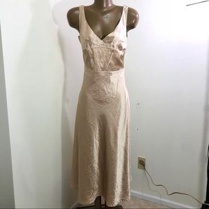 NWT Romy Gold Color Maxi Dress Size Medium